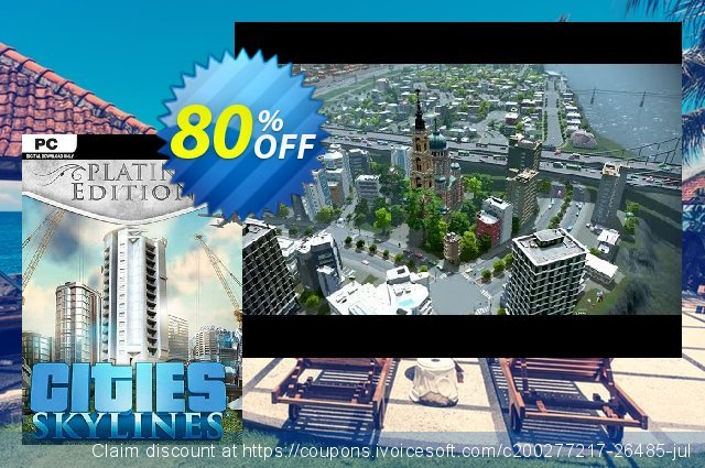 Cities: Skylines Platinum Edition PC discount 79% OFF, 2020 Thanksgiving discounts
