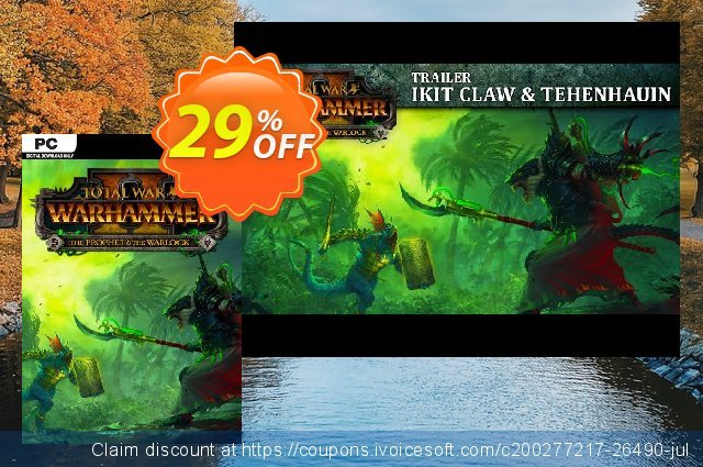 Total War: Warhammer II 2 - The Prophet & The Warlock DLC PC (WW) discount 10% OFF, 2021 Chocolate Day offering sales