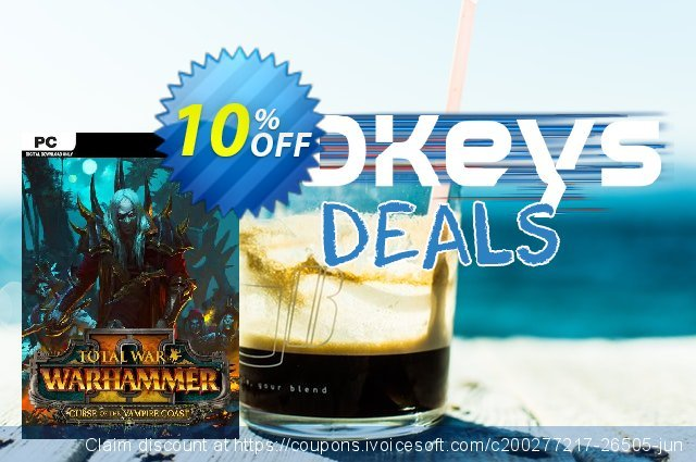Total War Warhammer II 2 PC - Curse of the Vampire Coast DLC (EU) discount 10% OFF, 2021 Happy New Year promo