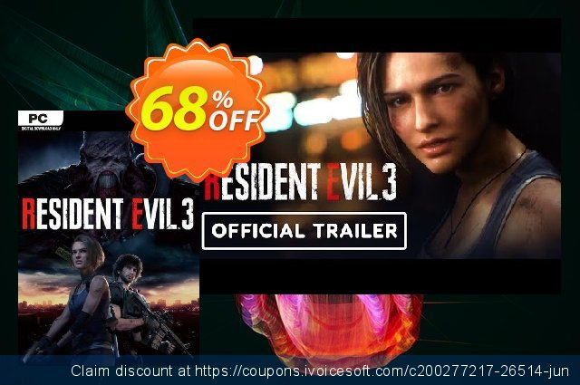 Resident Evil 3 PC discount 40% OFF, 2021 Happy New Year discounts