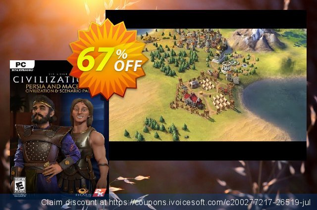 Sid Meier's Civilization VI: Persia and Macedon Civilization and Scenario Pack PC (WW) discount 61% OFF, 2021 Happy New Year discount