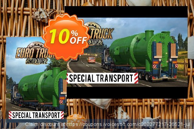 Euro Truck Simulator 2 - Special Transport DLC PC 令人恐惧的 销售折让 软件截图