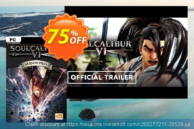 Soulcalibur VI 6 - Season Pass PC discount 58% OFF, 2021 New Year's Weekend offering sales