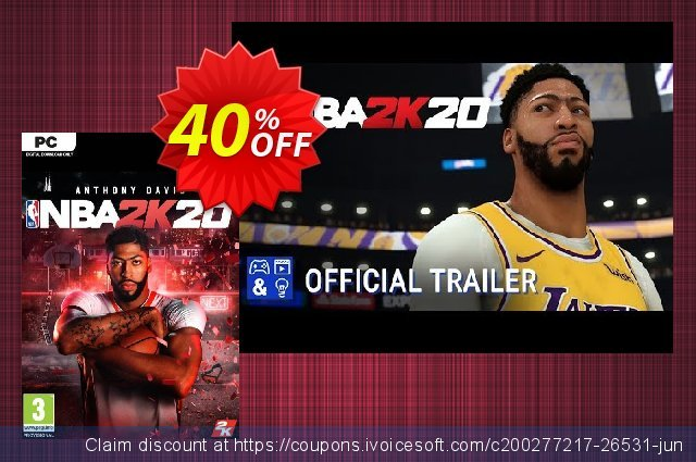 NBA 2K20 PC (US) discount 40% OFF, 2021 New Year offering sales