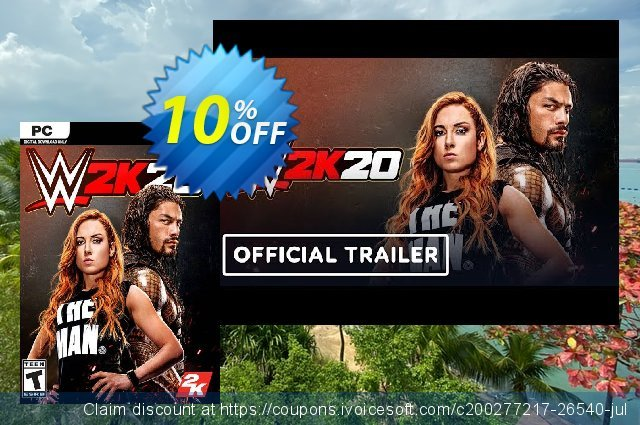 WWE 2K20 PC (WW) discount 43% OFF, 2021 Happy New Year offering sales
