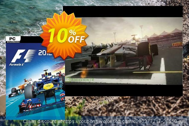 F1 2012 PC discount 10% OFF, 2021 New Year's Weekend offering sales