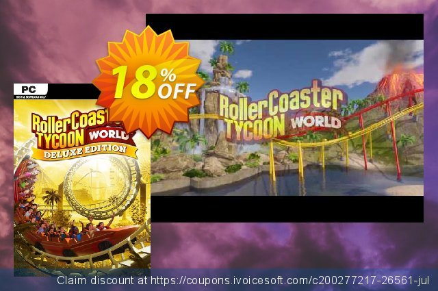 RollerCoaster Tycoon World - Deluxe Edition PC discount 71% OFF, 2021 Happy New Year promo sales