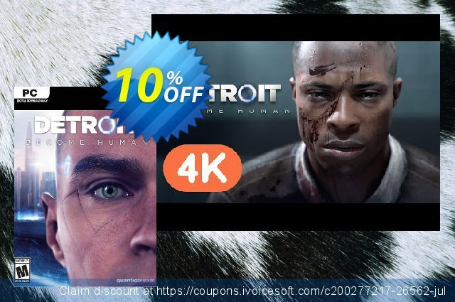 Detroit: Become Human PC discount 17% OFF, 2021 January promo