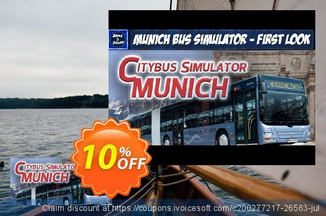 Munich Bus Simulator PC discount 10% OFF, 2021 Happy New Year offering sales