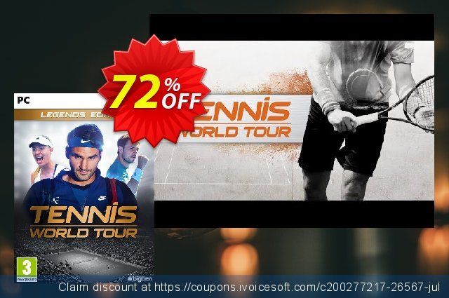 Tennis World Tour Legends Edition PC 惊人的 促销 软件截图