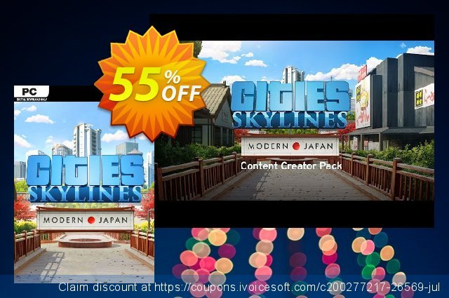 Cities: Skylines - Content Creator Pack Modern Japan PC discount 13% OFF, 2021 January offering sales