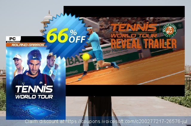 Tennis World Tour: Roland-Garros Edition PC discount 53% OFF, 2021 January discount