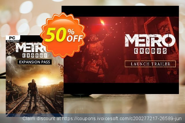 Metro Exodus - Expansion Pass PC discount 20% OFF, 2021 Happy New Year offering sales