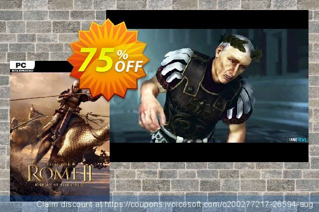 Total War Rome II: Enemy At the Gates Edition PC discount 53% OFF, 2020 Thanksgiving Day offering sales
