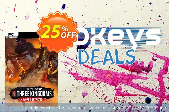Total War: Three Kingdoms - A World Betrayed PC discount 25% OFF, 2021 Happy New Year offering discount