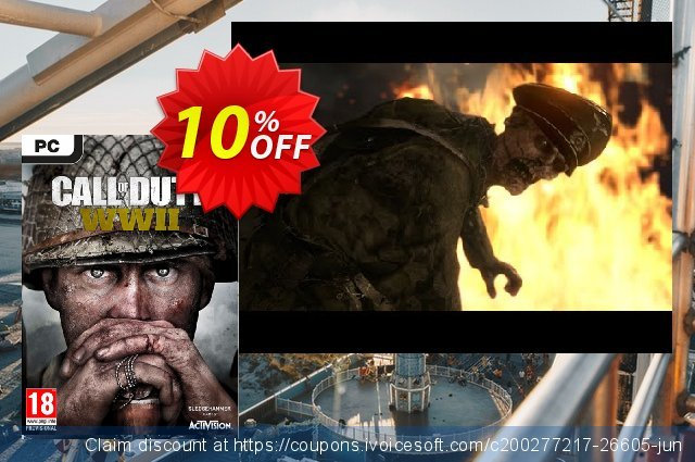 Call of Duty (COD) WWII PC: Nazi Zombies Camo DLC discount 10% OFF, 2020 Thanksgiving offering discount