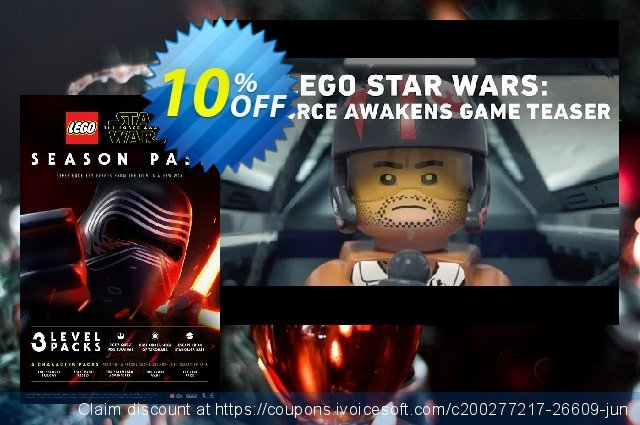 LEGO Star Wars The Force Awakens Season Pass PC discount 10% OFF, 2021 New Year's Day discounts