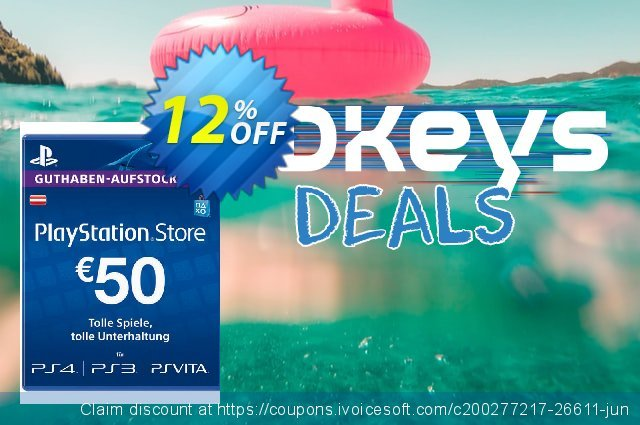 PlayStation Network (PSN) Card - 50 EUR (Austria) discount 12% OFF, 2020 College Student deals promo sales