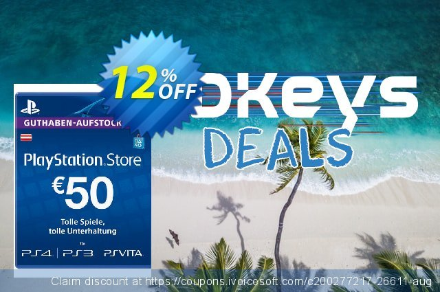 PlayStation Network (PSN) Card - 50 EUR (Austria) discount 12% OFF, 2021 Labour Day offering discount. PlayStation Network (PSN) Card - 50 EUR (Austria) Deal