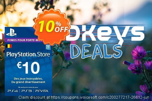 PlayStation Network (PSN) Card - 10 EUR (Belgium) discount 10% OFF, 2020 Thanksgiving Day offering sales