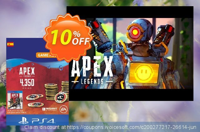 Apex Legends 4350 Coins PS4 (Spain) discount 10% OFF, 2021 Spring discount