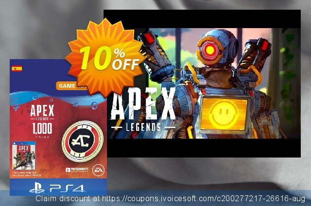 Apex Legends 1000 Coins PS4 (Spain) 特殊 销售 软件截图