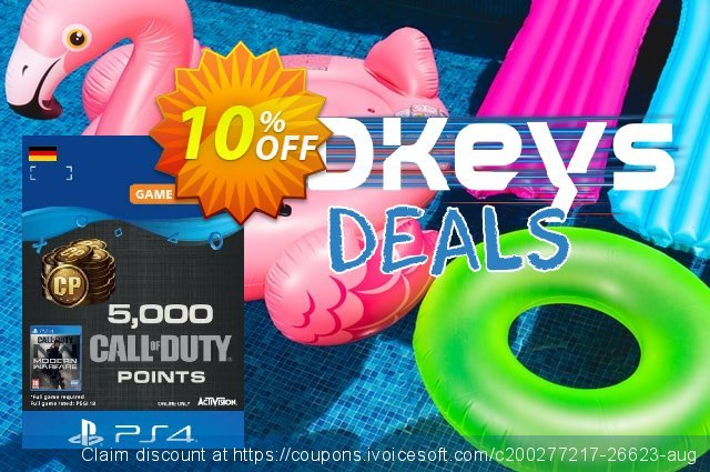 Call of Duty Modern Warfare - 5000 Points PS4 (Germany) discount 10% OFF, 2021 Video Game Day promotions. Call of Duty Modern Warfare - 5000 Points PS4 (Germany) Deal