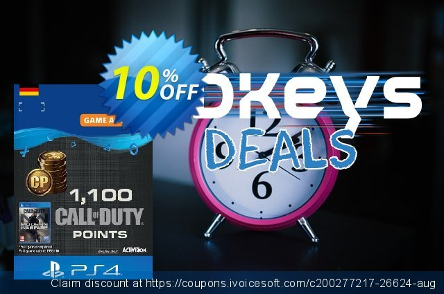Call of Duty Modern Warfare - 1100 Points PS4 (Germany) discount 10% OFF, 2021 World Population Day sales. Call of Duty Modern Warfare - 1100 Points PS4 (Germany) Deal