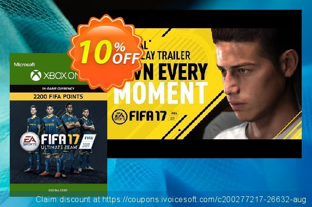 Fifa 17 - 2200 FUT Points (Xbox One) discount 10% OFF, 2020 Halloween offering sales