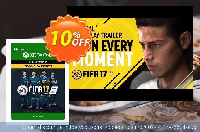 Fifa 17 - 12000 FUT Points (Xbox One) discount 10% OFF, 2021 New Year's Weekend offering discount