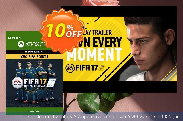 Fifa 17 - 1050 FUT Points (Xbox One) discount 10% OFF, 2021 Spring offering sales