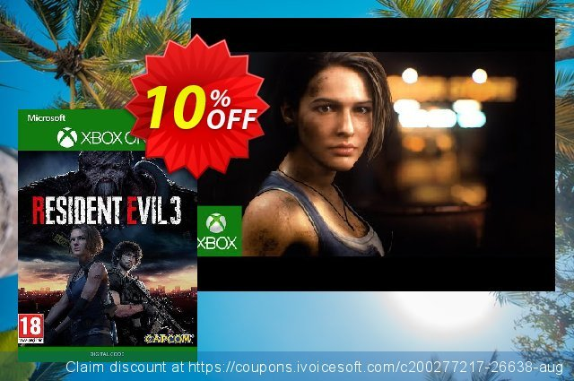Resident Evil 3 Xbox One (UK) discount 10% OFF, 2020 Back to School shopping offering sales