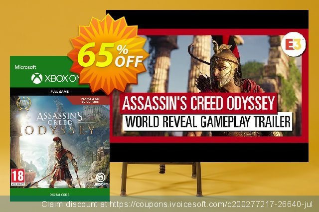 Assassin's Creed Odyssey Xbox One discount 55% OFF, 2021 Happy New Year offering sales