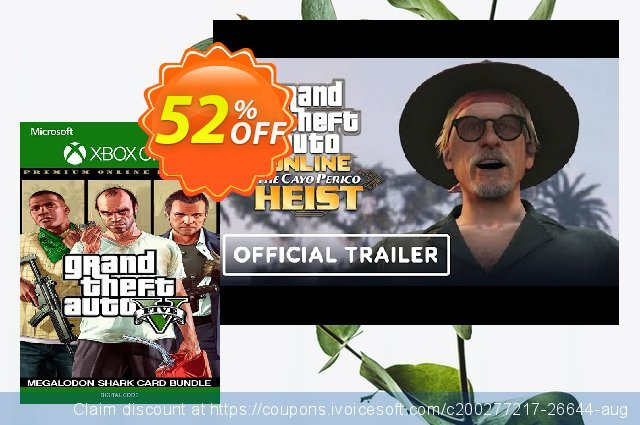 Grand Theft Auto V 5 Premium Online Edition and Megalodon Shark Card Bundle Xbox One (UK) 最佳的 优惠 软件截图