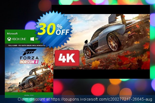 Forza Horizon 4 Xbox One/PC (UK) discount 52% OFF, 2021 Happy New Year offering sales