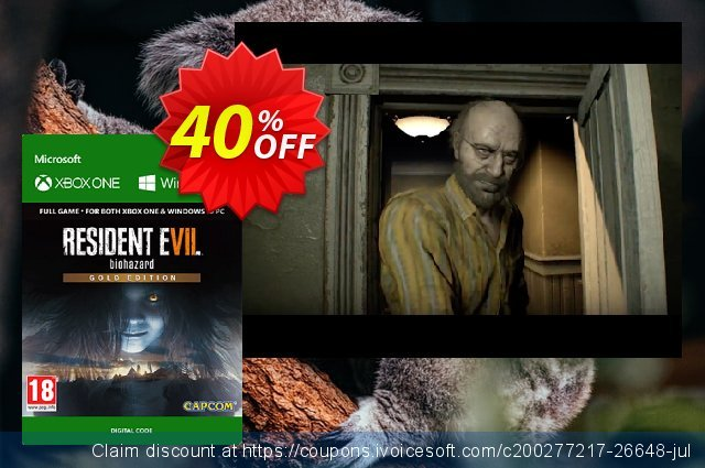 Resident Evil 7 - Biohazard Gold Edition Xbox One discount 23% OFF, 2021 New Year's Weekend promotions