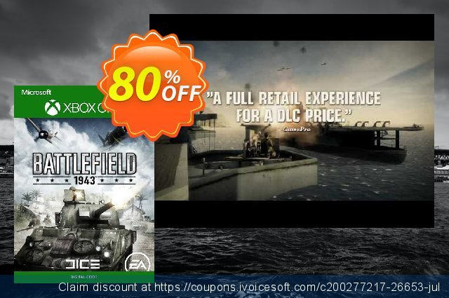 Battlefield 1943 Xbox One discount 87% OFF, 2021 January offering discount