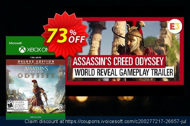Assassin's Creed Odyssey - Deluxe Edition Xbox One discount 66% OFF, 2021 New Year promo