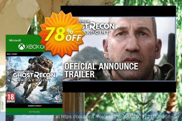 Tom Clancy's Ghost Recon Breakpoint Xbox One (UK) discount 60% OFF, 2021 New Year's Day offering sales