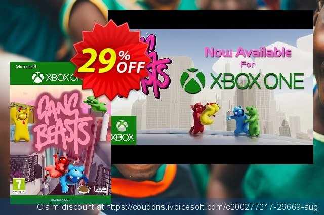 Gang Beasts Xbox One (UK) discount 25% OFF, 2020 Halloween offering sales