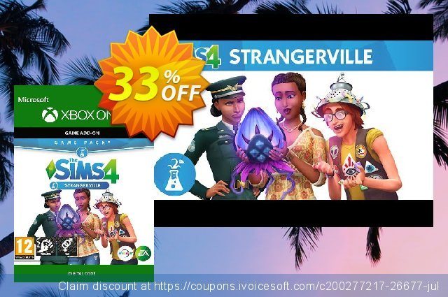 The Sims 4: StrangerVille Xbox One discount 20% OFF, 2020 Back to School event discounts
