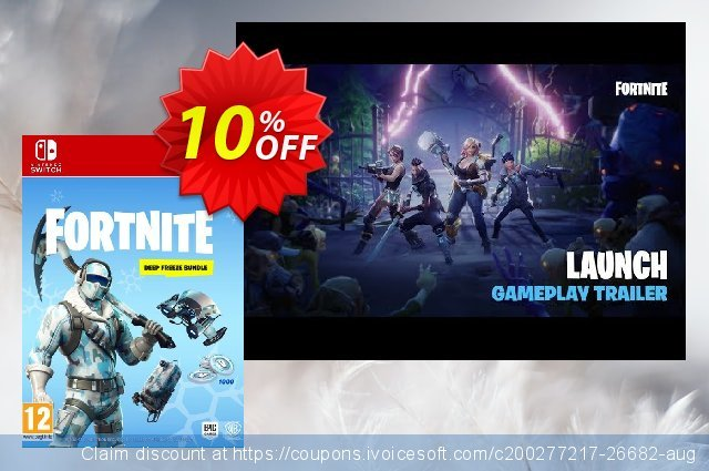 Fortnite Deep Freeze Bundle Switch discount 10% OFF, 2021 Happy New Year offering sales