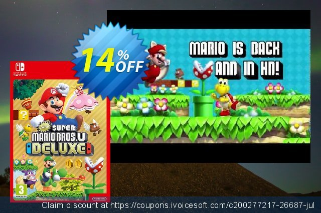New Super Mario Bros. U - Deluxe Switch (US) discount 14% OFF, 2021 Happy New Year sales