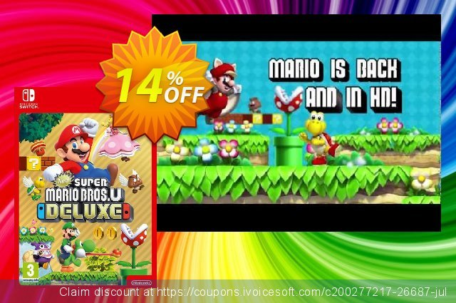 New Super Mario Bros. U - Deluxe Switch (US)  훌륭하   매상  스크린 샷