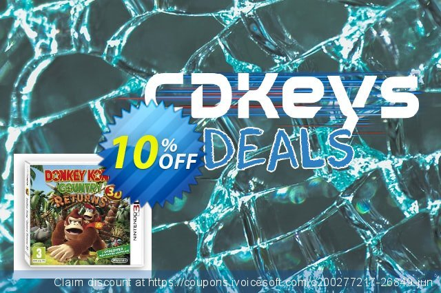 Get 10% OFF Donkey Kong Country Returns 3D 3DS - Game Code promotions