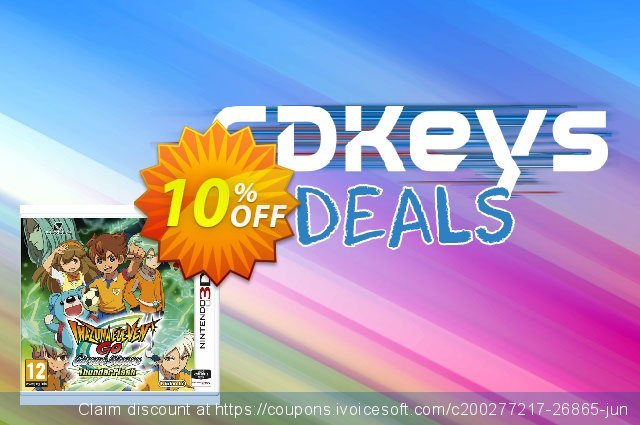 Inazuma Eleven GO Chrono Stones: Thunderflash 3DS - Game Code discount 10% OFF, 2021 Father's Day offering sales. Inazuma Eleven GO Chrono Stones: Thunderflash 3DS - Game Code Deal