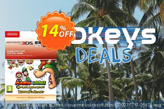 Mario and Luigi Bowsers Inside Story and Bowser Jrs Journey 3DS discount 14% OFF, 2021 World Day of Music offer. Mario and Luigi Bowsers Inside Story and Bowser Jrs Journey 3DS Deal