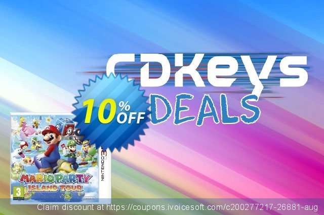 Mario Party: Island Tour 3DS - Game Code discount 10% OFF, 2020 College Student deals offering sales