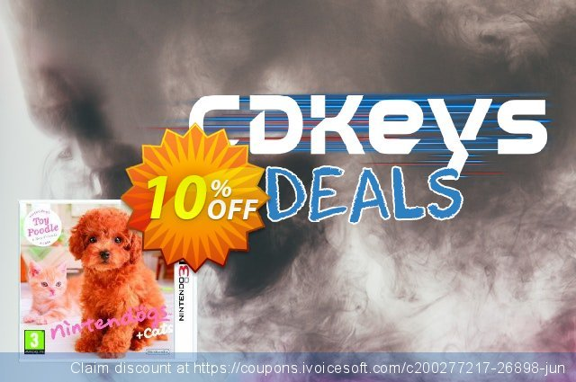 Nintendogs + Cats - Toy Poodle + New Friends 3DS - Game Code discount 10% OFF, 2020 University Student offer offering sales