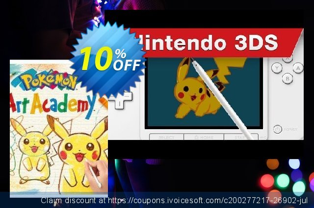 Pokémon Art Academy 3DS - Game Code  특별한   매상  스크린 샷